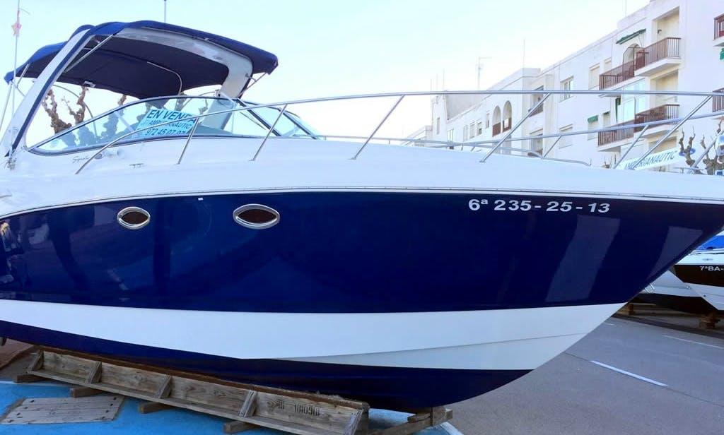 Rent the 31' Motorboat Yacht (2013) - Chaparral 310 Signature +2x190 Hp Volvo Diesel D3,  in Platja d'Aro (Costa Brava - Spain).
