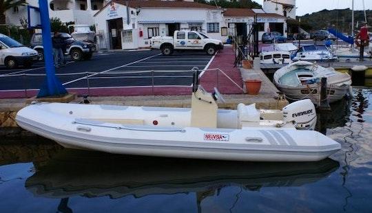 Rent The 19' Semirigid Inflatable (2017) Tarpon 590 Lx + 75 Hp Evinrude E-tec In Platja D'aro, (costa Brava - Spain)