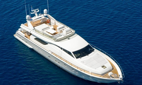 60' Ferretti Power Mega Yacht Charter In Miami, Florida
