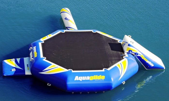 Rent a Water Trampoline On Higgins Lake Michigan