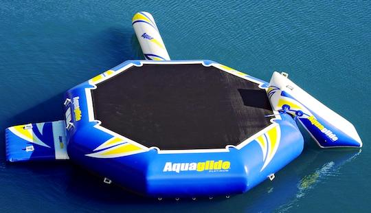 Rent A Water Trampoline On Higgins Lake Michigan