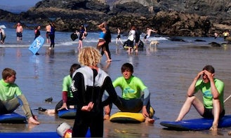 Surfing Lessons In Saint Agnes, England