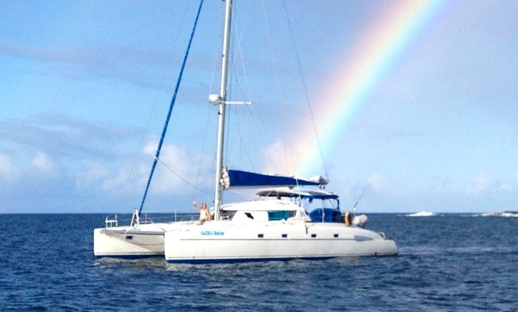 """46ft """"Bahia"""" Catamaran Maui, Kauai, Oahu, Big Island, Molokai, Lanai"""