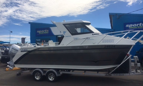 25ft Sailfish Canyon Master Power Catamaran Boat Rental In North West Cape, Western Australia