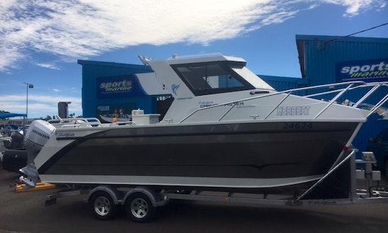 25ft Sailfish Canyon Master Power Catamaran Boat Rental In North West Cape, Western Australia