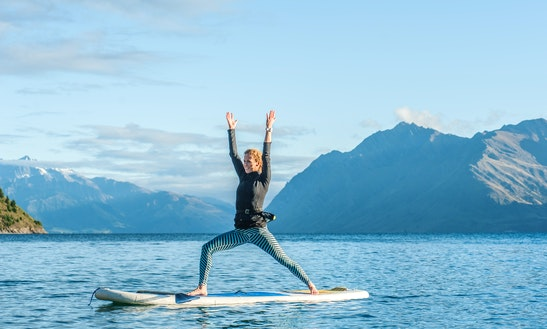 Stand Up Paddle (sup) Yoga In Lake Wanaka