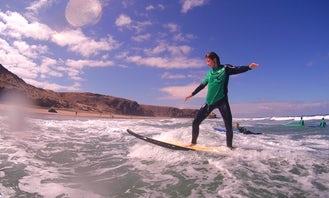 Surf Lessons in La Pared including pick up from Morro Jable, Jandía, Esquinzo and Costa Calma