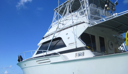 43' Bertram Leisure Snorkel Charter Nassau First Strike Charters!
