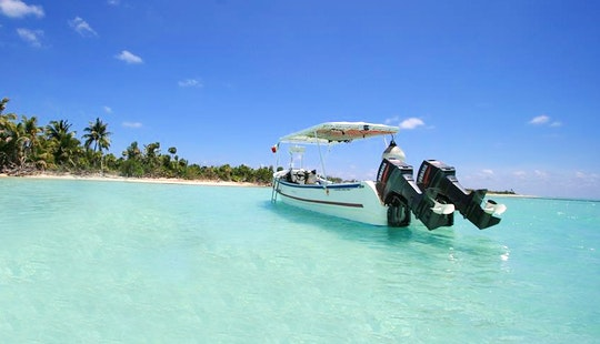 24ft Center Console Boat Rental In Quintana Roo, Mexico
