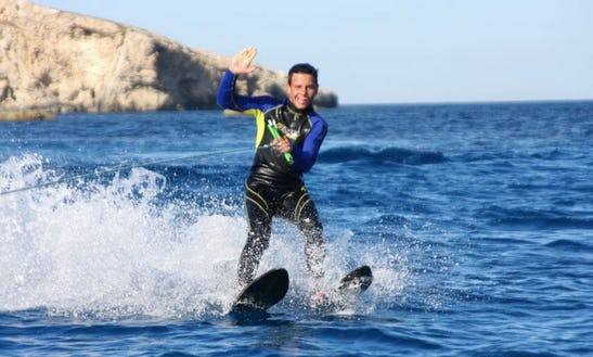 Enjoy Water Skiing At Hondoq Bay, Malta