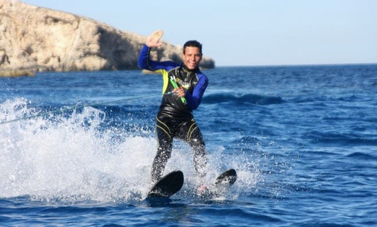Enjoy Water Skiing At Hondoq Bay, Malta