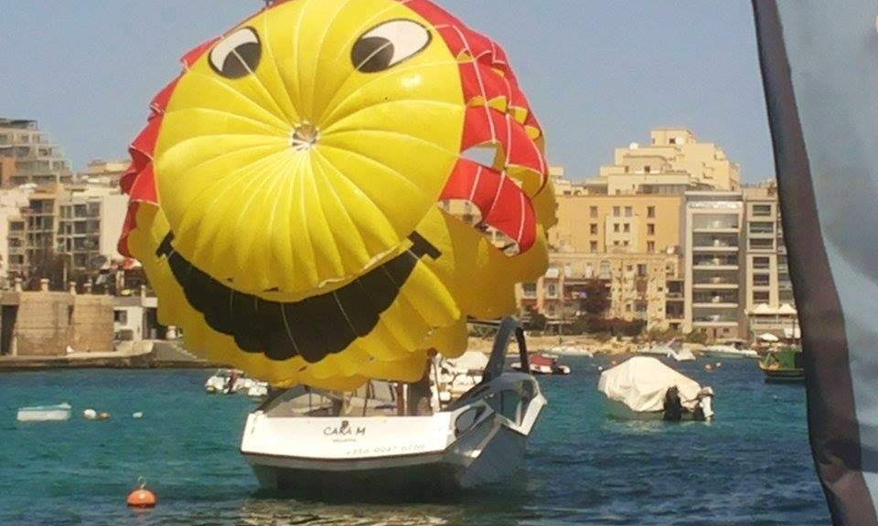 Hair Raising Parasailing Ride in Saint Julian's, Malta