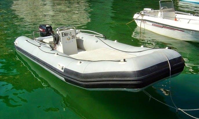 Rent 17' Cherokee Rigid Inflatable Boat in Ponza, Italy