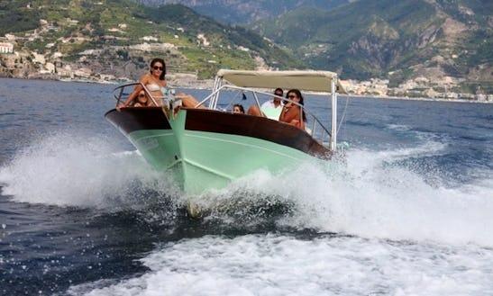 28' Deck Boat Charter In Maiori Campania, Italy