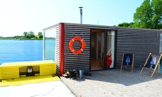 Houseboat HT10 with 2 Bedrooms and Floating Terrace in Poland