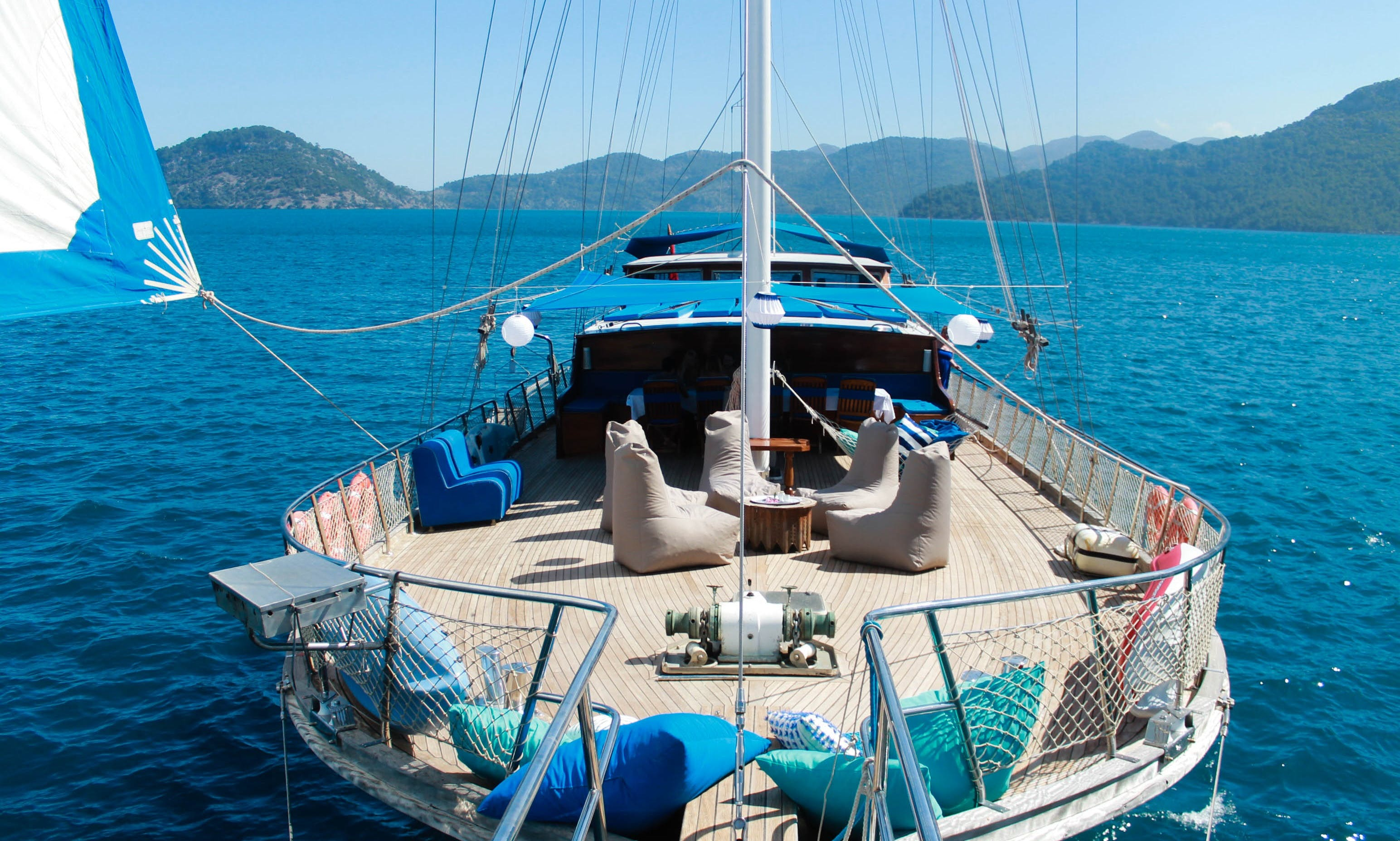 100' Sailing Gulet Charter in Rodos, Greece