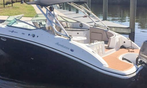 Rent the 27' Hurricane Deck Boat in Cape Coral, Florida