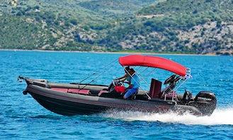Rent 21' Viper Bullet RIB with a mercury 150hp 3000ccIn Nikiana Lefkada  Greece