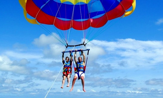 Enjoy Parasailing In Albufeira, Portugal