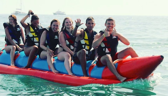 Enjoy Banana Boat Rides In Albufeira, Portugal