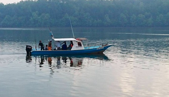 Charter Fishing In Kuala Rompin, Pahang On A Center Console