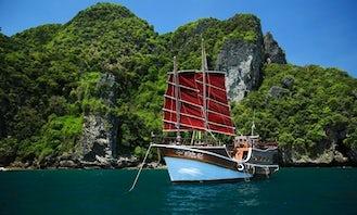 Enjoy Sunset and B.B.Q Seafood dinner Cruise in Krabi, Thailand on Sailing Yacht
