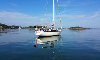 Sail the Thimble Islands on the classy 35' Dufour 4800 Sailboat
