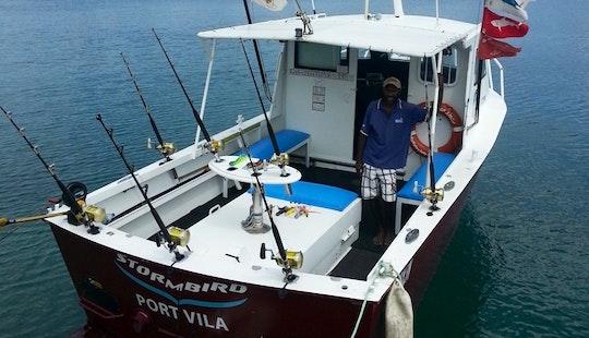 Charter Fishing In Port Vila, Vanuatu On A 30' Sport Fisherman