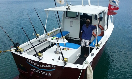 Charter Fishing In Port Vila, Vanuatu On A 30' Sport Fisherman