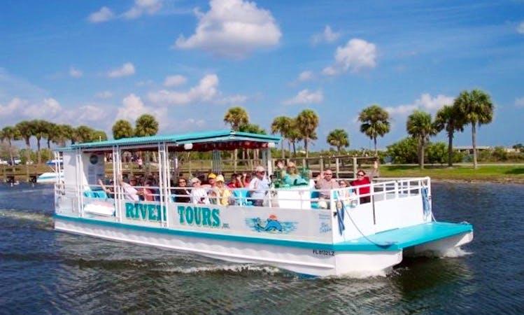 "44' Pontoon ""Blue Dolphin"" Charter in Merritt Island, Florida"