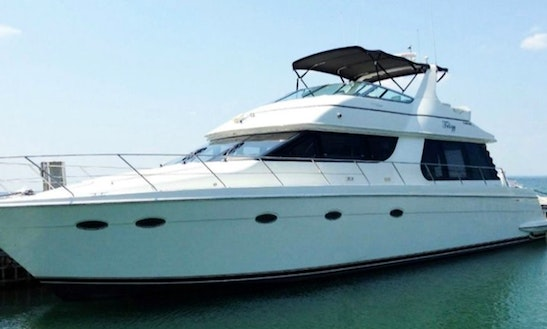 Captained Charter On Carver 60 Luxury Power Mega Yacht In Cancún