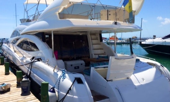Captained Charter On Sunseeker 74 Luxury Power Mega Yacht In Cancún