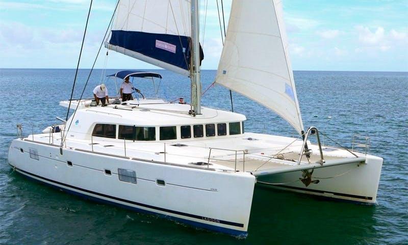 Lavezzi 40 sailing catamaran in Vilamoura, Algarve