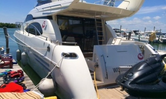 Charter The 58' Azimut Power Mega Yacht In Cancún, Quintana Roo