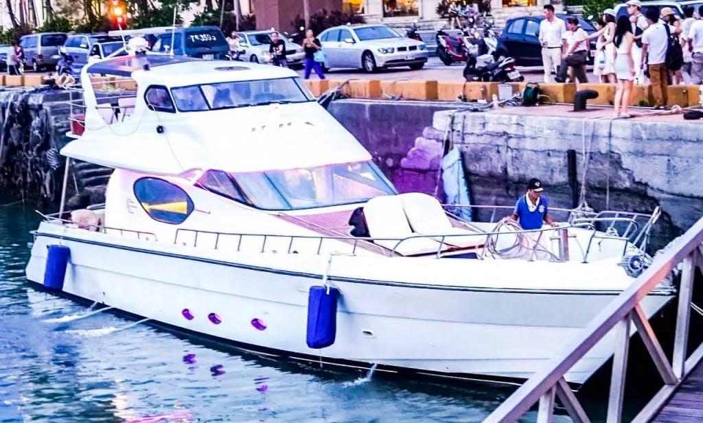 Charter a Power Mega Yacht in Taoyuan, Taiwan for 20 Pax