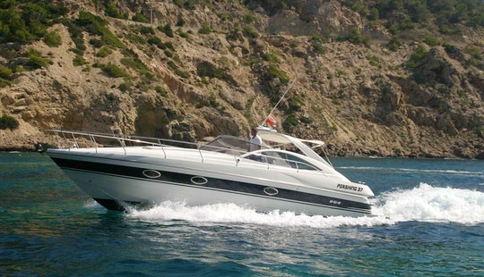 Pershing 37 Motor Yacht Charter In Santa Eulària Des Riu, Spain