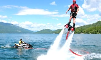 Flyboarding & Jetpacking Experience for water parties on Round Lake, Michigan