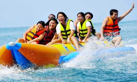 Love The Wild Water Adventure In A Banana Boat Rental In Lapu-lapu City, Philippines