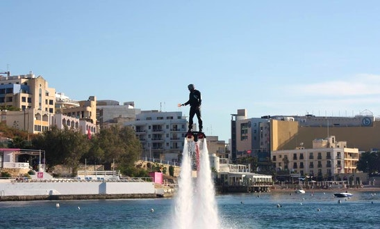 Book A Flyboarding Ride A Be Like An Ironman In San Ġiljan, Malta
