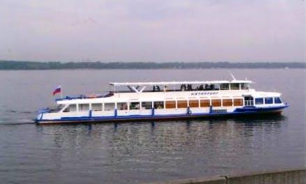 "Charter ""Metallurg-1"" Passenger Boat In Samara, Russia"