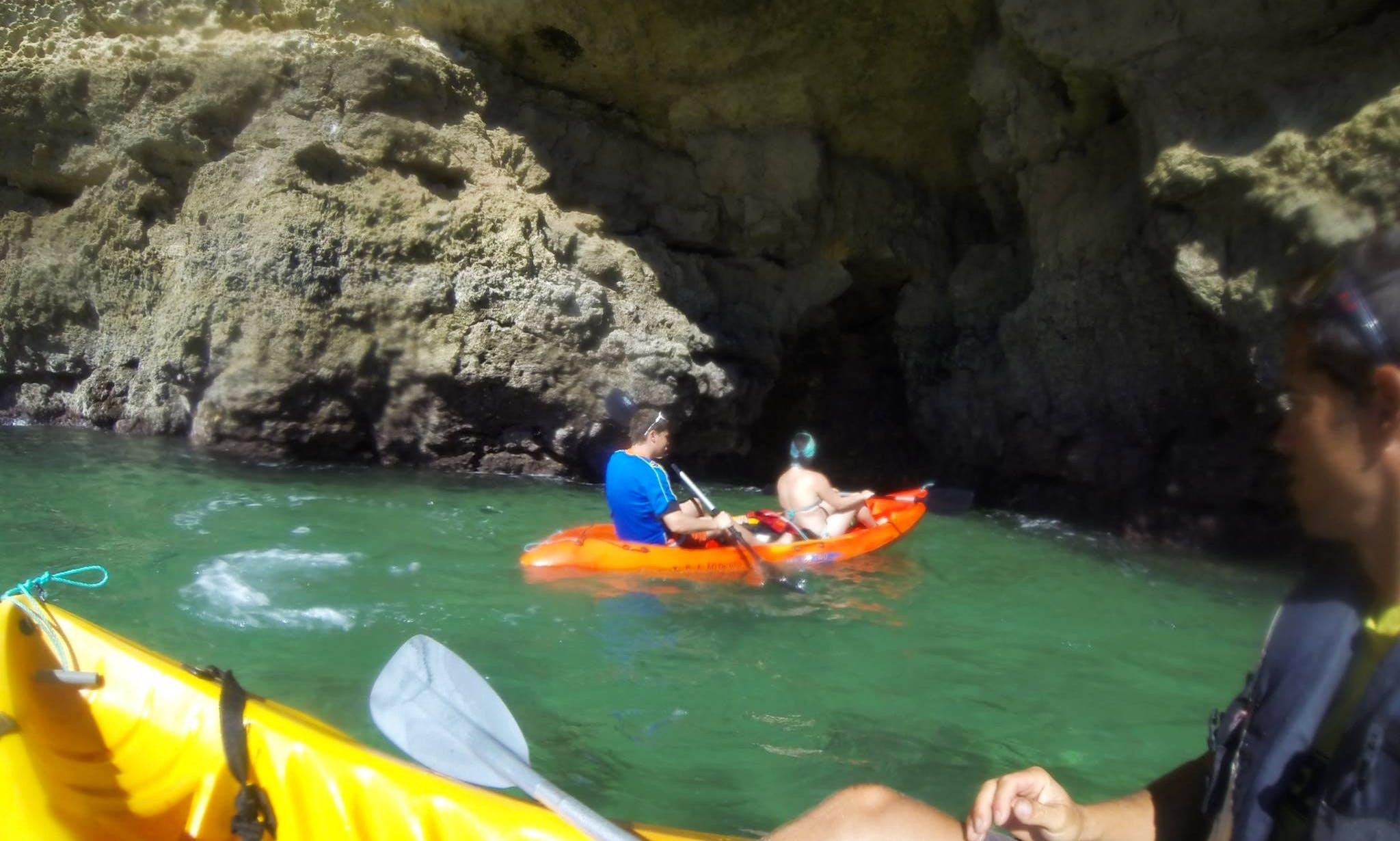 Rent a Double Kayak and Tours in Armação de Pêra, Algarve, Portugal
