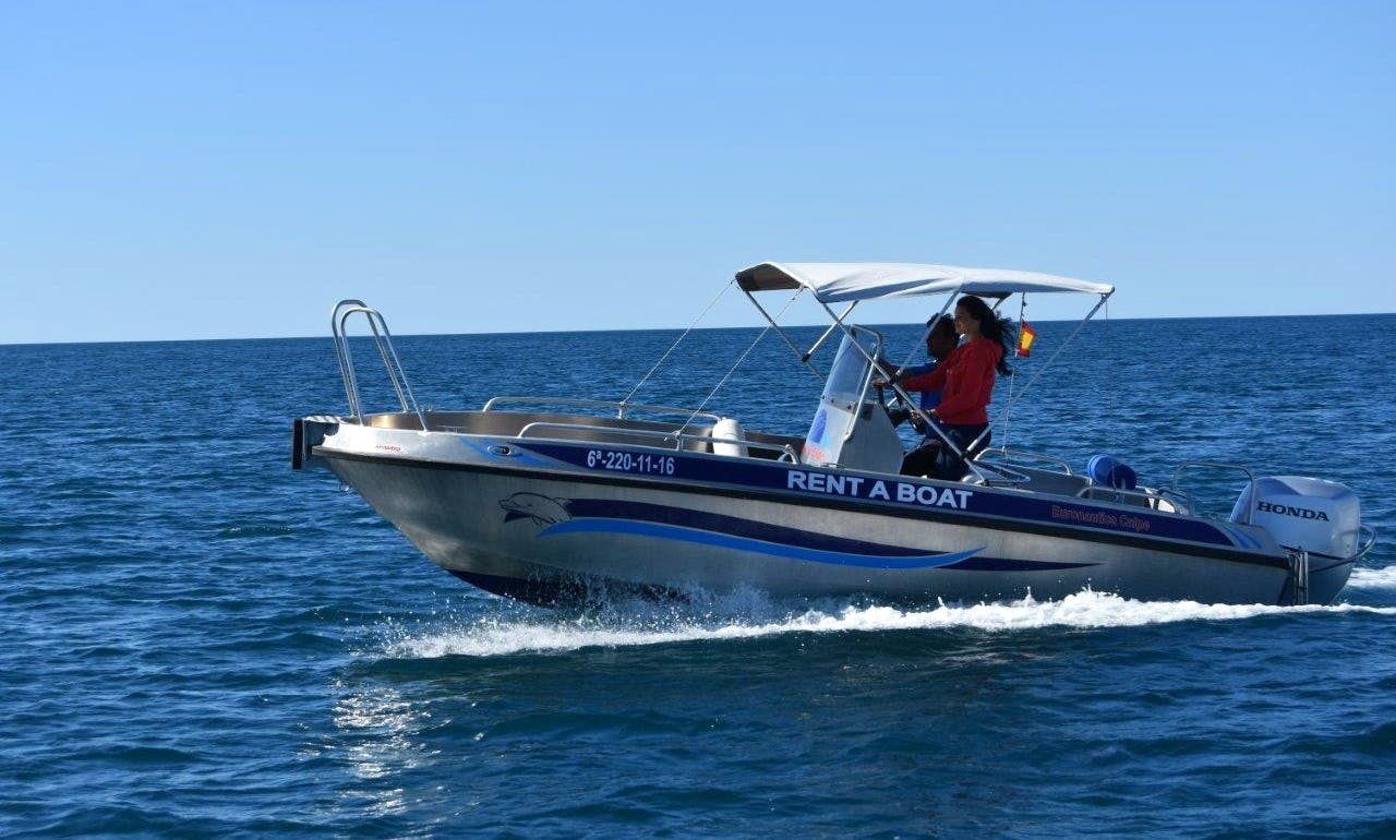 20' Alu Center Console  with 135 HP for rent in Altea, Spain