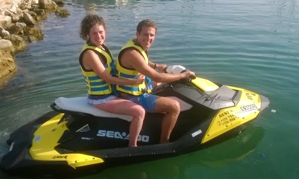Rent a Seadoo Jet Ski in Għajnsielem, Malta for 2 person