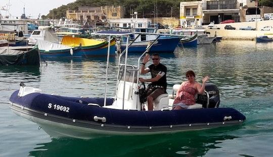 Rent 17' Rigid Inflatble Boat In Għajnsielem, Malta For 7 Pax
