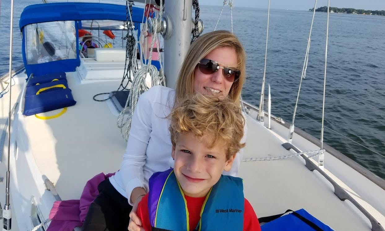 Carefree Tours with Homegrown Captain on 38' Sailboat in Galesville, Maryland (West River, Chesapeake Bay)