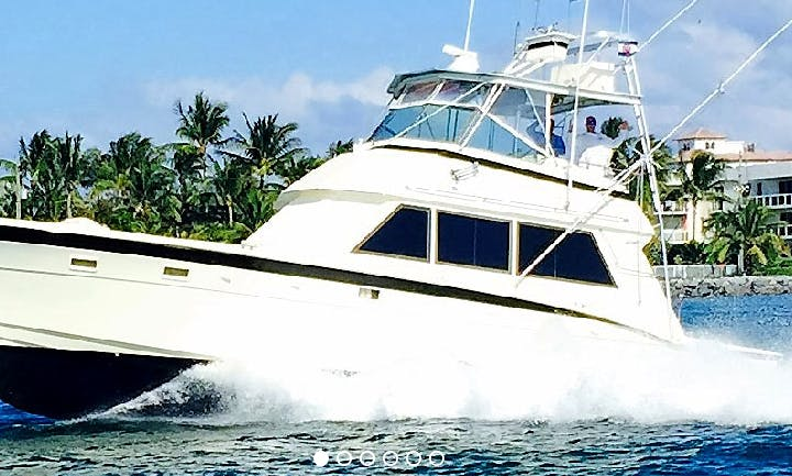 "Fishing Charter On 50ft  ""Anita-L"" Hatteras Yacht In Palm Beach, Florida"