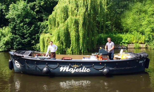 """Experience Amsterdam on """"Majestic"""" Electric Canal Boat"""