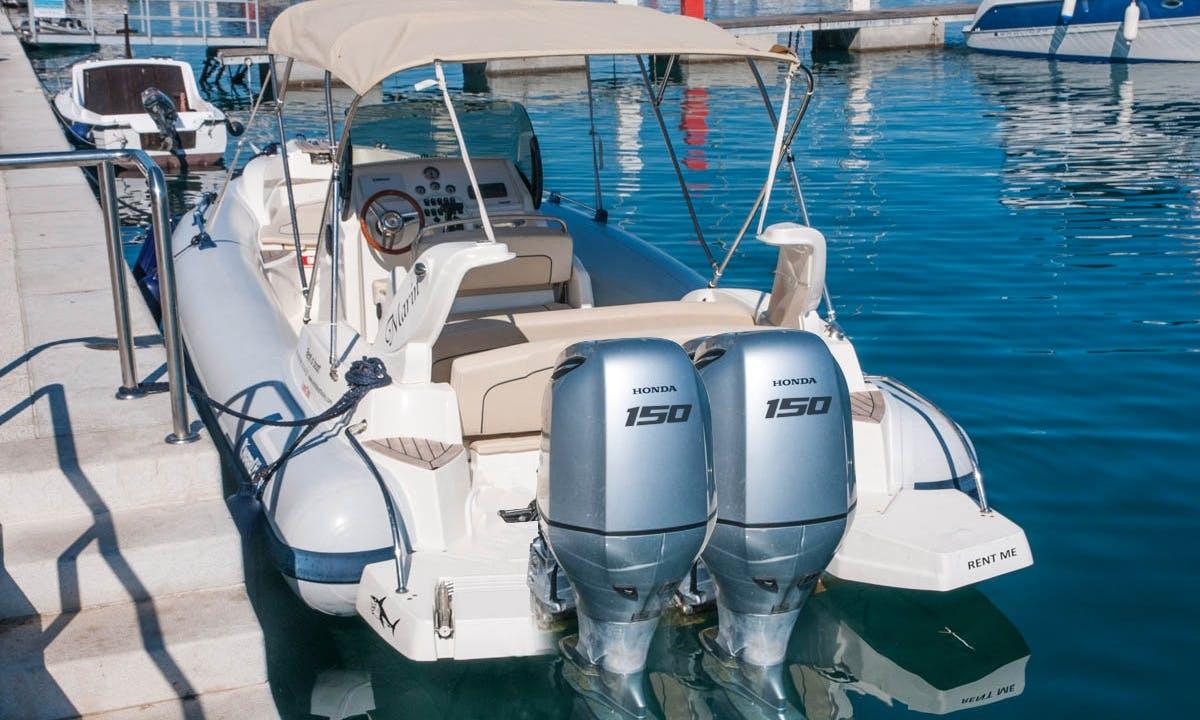 Rent 26' Marlin 23 Rigid Inflatable Boat in Mali Lošinj, Croatia
