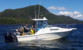 """Day Lodging and Fishing Trips on 28ft """"Tell 'N Tales"""" in British Columbia"""