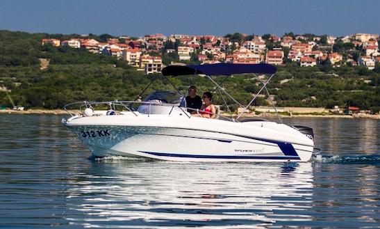 Rent 20' Beneteau Flyer 650 Sun Deck Bowrider In Punat, Croatia